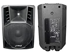 "400W Two-Way 8"" Powered PA Speaker System"