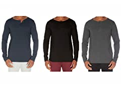 Unsimply Stitched 2 Button Henley 3-Pack