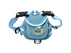 Mesh Harness with Pouch - Blue