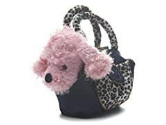 Pink Poodle & Carrier with Skirt