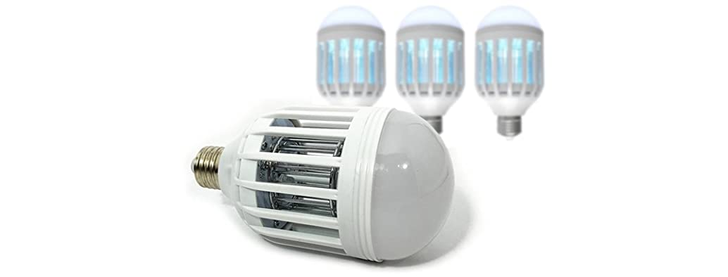 2-in-1 Ultimate Mosquito Killer and LED Bulbs - 4 Pack
