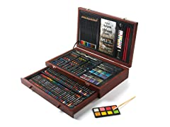 132-Piece Art Set in Wooden Case