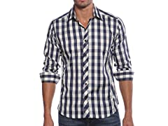 Jared Lang Dress Shirt, Blue Check