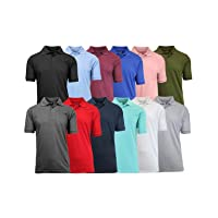 Deals on Galaxy by Harvic Mens Assorted Pique Polo 4-Pack