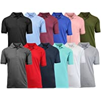 4-Pack Galaxy by Harvic Men's Assorted Pique Polo Shirts