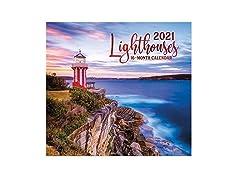 2021 Full-Size Wall Calendar Lighthouses