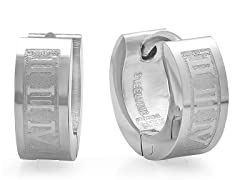 Stainless Steel 5mm Roman Numeral Huggie