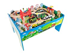 Wooden Train Set Table