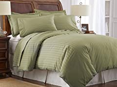 500TC Cotton Duvet Set-Sage (Full/Queen)