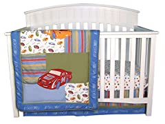 NASCAR Crib Bedding Set- 3 Piece
