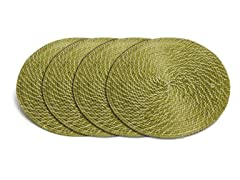 "Core Bamboo 15"" Placemat-Lime Set of 4"