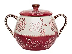 Napa Covered Soup Pot - Burgundy