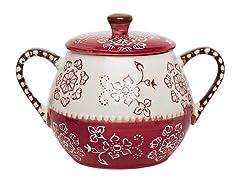 Napa Covered Soup Pot - Burgundy