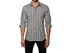 Jared Lang Dress Shirt, Grey Plaid