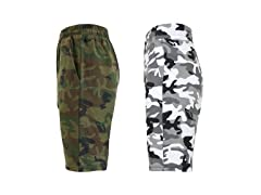 Women's Fashion Camo Jogger Shorts 2Pk