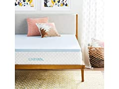 LinenSpa 2-Inch Memory Foam Queen Mattress Topper