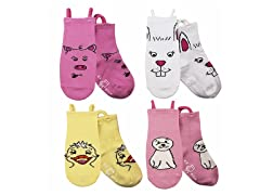 4-Pk Socks - Duck & Friends (S-M)