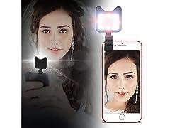Apexel IC332 Clip-On Mini Multi-Function Selfie Light