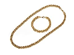 18kt Gold Plated Necklace & Bracelet Set