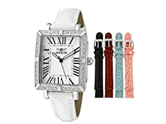 Women's Wildflower White Leather Watch