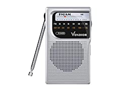 AM FM Battery Operated Portable Radio