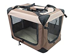 Multipurpose Pet Soft Crate with Fleece Mat