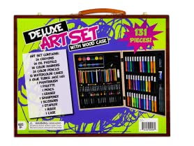 130-Piece Deluxe Art Set with Wood Case