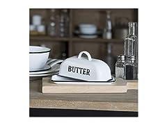 Enamel Butter Dish, Vintage Inspired