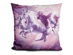 Epic Space Sloth Riding On Unicorn Pillow