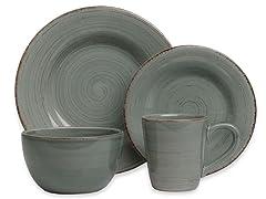 TAG Sonoma 16-Pc Dinnerware Set 4 color