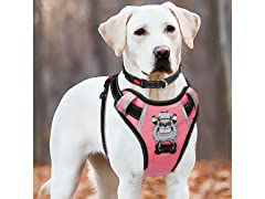 No-Pull Anti-Tear Silver Big Dog Harness