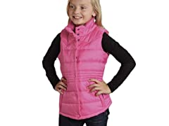 Pink Quilted Vest - Sizes (XS-XL)