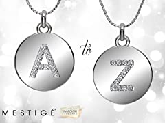 Mestige Medallion Initial Necklace - A to Z