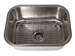 23-Inch Kitchen Sink, Stainless Steel
