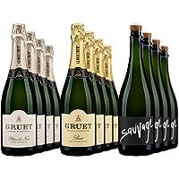 12-Pack Gruet Sparkling Mixed Case Wine