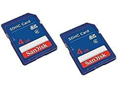 SanDisk 4GB SD Memory Card 2 Pack