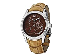 Men's Bressel Brown Dial Tan Alligator