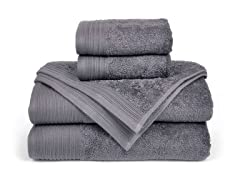 6-Piece Supima Cotton Towel Set-Smoked Pearl