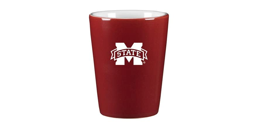 Ncaa Laser Engraved Ceramic Shot Glass