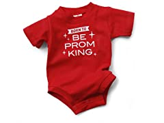 """Prom King"" Red Bodysuit (0-6 mos)"