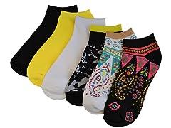 MUK LUKS ®No Show Socks 6-Pack, Boho Paisley