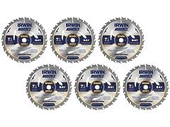 """Irwin 2002791 Marathon 7-1/4"""" Saw Blade (6-Pack)"""