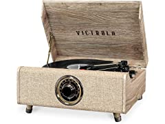Victrola's 4-in-1 Highland Bluetooth Record Player with FM Radio