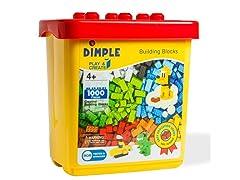 Dimple 1000-Piece Brick Building Block Set