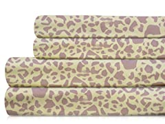 350TC Sheet Set-Freesia Leopard-5 Sizes