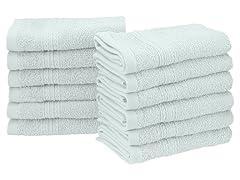 100% Ringspun Cotton 12 Piece Face Towel Set
