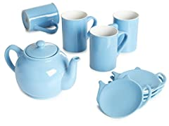 9-Piece Tea Set - Blue