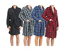Men's Micro Fleece Robes w Pockets 2-Pk