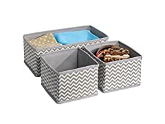 ClosetMate Chevron Fabric Drawer Storage