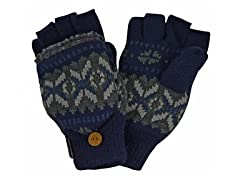 MUK LUKS® Men's Nordic Flip Mittens Blue